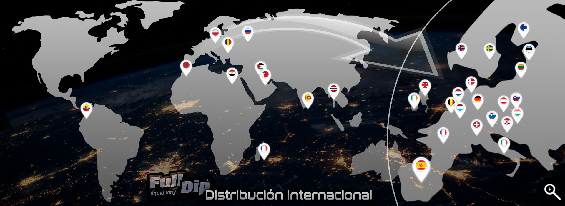 FullDip® Worldwide Distribution